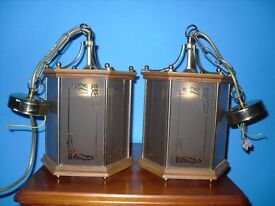 Vintage style pendant lampshades