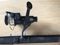 Fishing rod and reel with tackle box