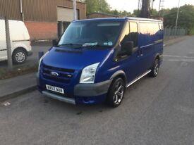 2007 57 Ford Transit Sport TDCi 130 Midnight Blue Mot January 19 FSH Clifford Alarm Sensors Leathers