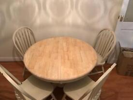 Solid Wooden extendable table and chairs