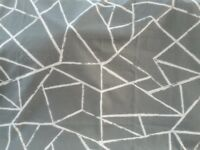 Pair of Smash Grey lined curtains