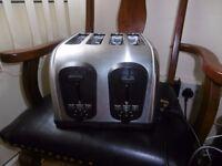 Stainless stell 4 Slices Toaster model nrTA8570