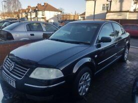 VW Passat. 2003 (53). 2.0 SE. Black. Manual. Petrol. Excellent Condition. Non Starter