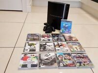PS3 with PS Move, 12 games and 2 controllers