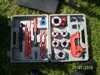 Pipe Threading set as new, bits never used. with case, heavy.