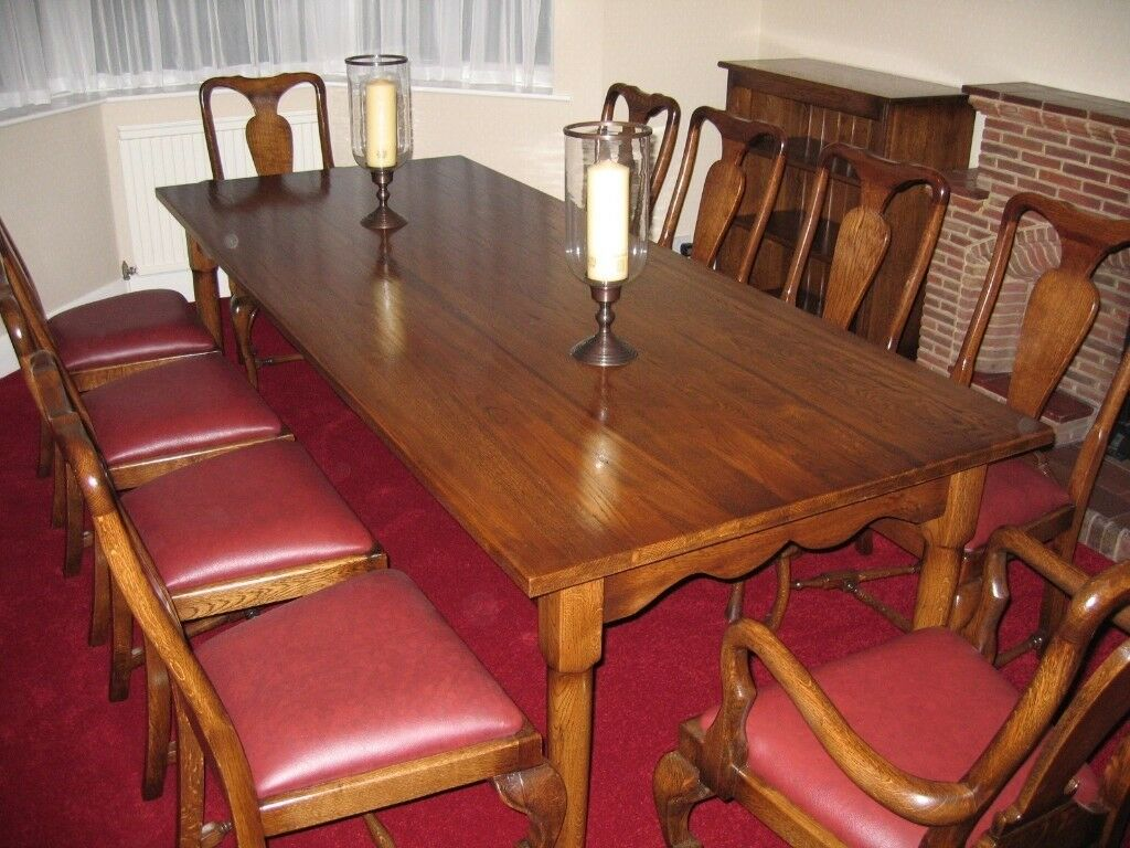 Stupendous Beautiful Oak Queen Anne Dining Table And 10 Chairs In Stoke Bishop Bristol Gumtree Dailytribune Chair Design For Home Dailytribuneorg