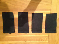 Set of four Linum 100% black linen napkins (never used) JUST REDUCED