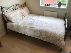 FINAL REDUCTION! Double bed frame and memory foam mattress