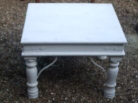White Chunky Small Table