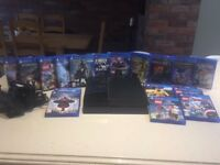 Play Station 4 Bundle: Console, Top Games, Extra Controller, Dual Charging Station