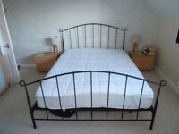KING size bed frame and matteress