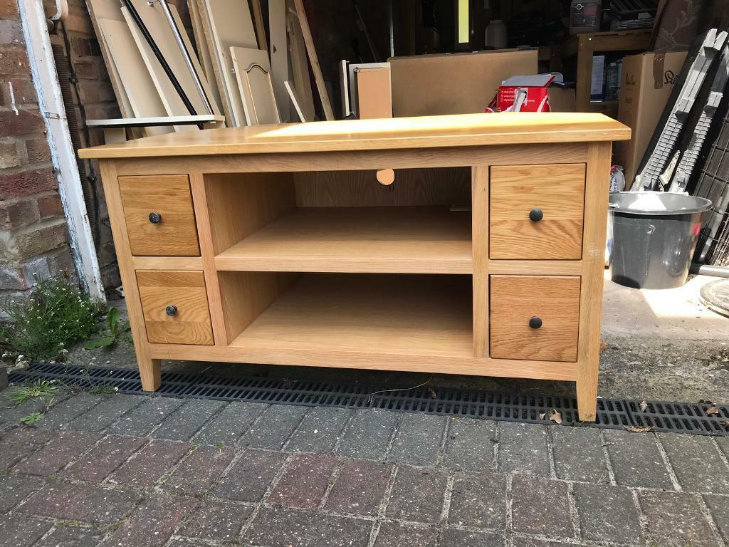 15ad0302132e John Lewis - Solid Oak Corner TV Cabinet/unit | in Norwich, Norfolk ...