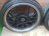"18"" Wolfrace alloys with low profile tyres"