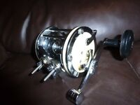 mitchell 624 multiplier fishing reel in good condition colectable vintage boat reel