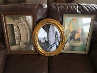 Old fashioned antique style photo frames