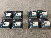 NEW HP black 27 & colour 28 ink cartridges