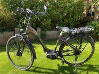 "Raleigh Motus Bronze Step Through Bosch Geared 26"" Wheel Electric Bike"