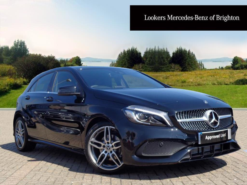 mercedes benz a class a 180 amg line premium black 2017. Black Bedroom Furniture Sets. Home Design Ideas