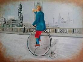 Acrylic painting original on stretch box canvas