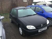 2003 CITREON SAXO 1124cc ENGINE ONLY 37000 MILES FROM in gleaming BLACK MOT NEW IN VGCONDITION