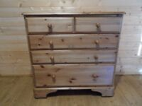 Ducal 5 drawer pine chest of drawers fully restored Falkirk