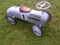 beautiful retro vintage style racing kids toy car