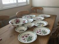 A collection of portmeirion pottery all in excellent condition