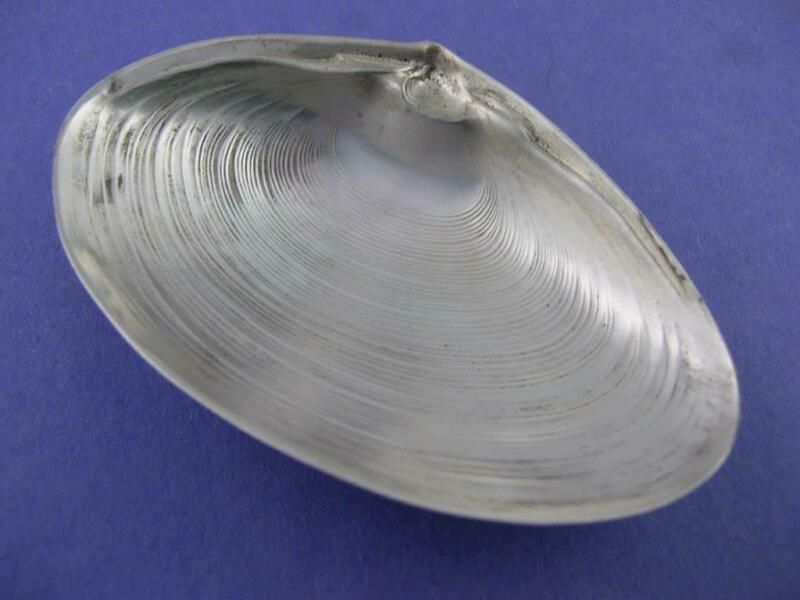"""Sterling WALLACE 3 1/2"""" footed Clam Shell Dish realistic seashell 4020 ~$69 each"""
