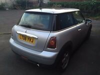 5000 pounds 08 Mini Cooper 1.6 AUTO 3 Door Hatchback Silver Sun Pan Roof Only 40000 MIles