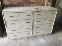 8 Draw Wooden Tool Storage Chest Unit