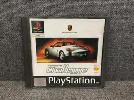 Rare vintage retro gaming SONY PS1 Porsche Challenge Video game not PS2 PS4 SDHC