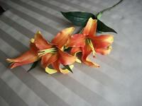 """29"""" Artificial Orange Lily Very Real Looking!! NEW! Half Price"""