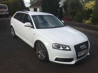 2008 Audi A3 White 2.0 TDI S-Line, Manual, 132k miles. 5-door, FSH, PAS, RCL, EW. MOT Aug