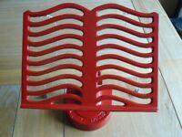 Red Cast Iron Recipe/ipad Holder