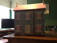 Beautiful wooden dolls house