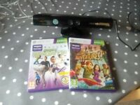 Xbox 360 kinnect and 2 games very good condition