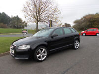 AUDI A3 TECHNIK LIMITED EDITION BLACK NEW SHAPE 2010 ONLY 82K MILES BARGAIN £3995 *LOOK* PX/DELIVERY