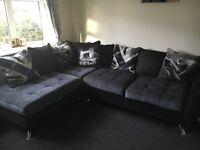 Sofology Napier corner sofa & cuddler swivel chair