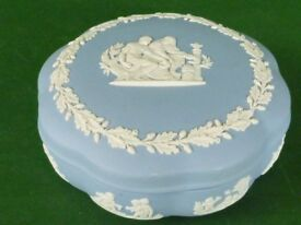 Wedgewood Blue Trinket Box (with lid)