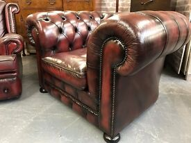 Chesterfield Club Chair - Oxblood Red