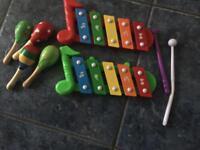 2 Xylophones and 4 Mini Maracas