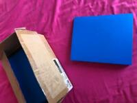 Box of 10 blue A5 ring binders