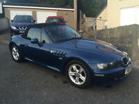BMW Z3 Roadster 2001 1.9 Petrol. 7 months MOT. Lady Owner for 6 Years. 2 Previous owners.