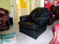 Black leather lazy boy recliner