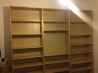THREE large bookcases. £20 each of £50 for all 3