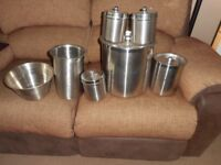 Stainless steel kitchen storage