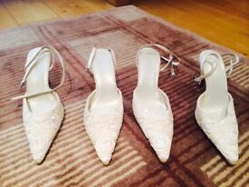 Bride or bridesmaids shoes x 2 pairs the same