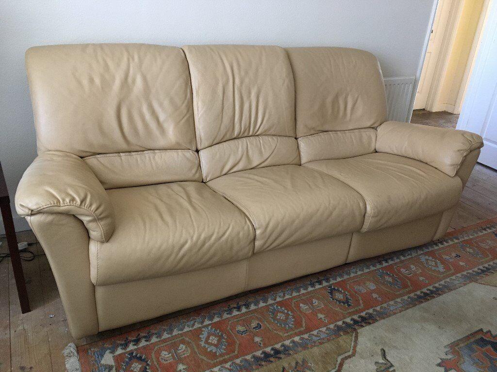 Calia Salotti Spa.Leather Three Seater Sofa With One End Recliner By Calia Salotti Spa In Wellingborough Northamptonshire Gumtree