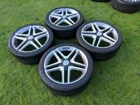 """18"""" genuine mercedes A-class AMG alloy wheels and tyres 5x112"""