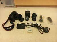 Trusty Canon 550D DSLR Camera Body and 3 lenses